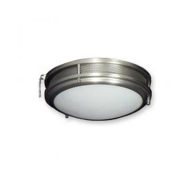 164 Modern Low Profile Ceiling Fan Light - Satin Steel Finish
