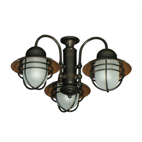 362 Outdoor Rated Ceiling Fan Light - Oil Rubbed Bronze