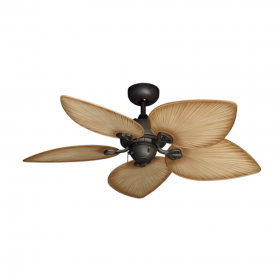 """42"""" Bombay Ceiling Fan - Oil Rubbed Bronze with Tan Blades"""