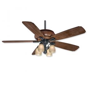 "Casablanca Heathridge 60"" LED Outdoor Ceiling Fan Aged Steel"