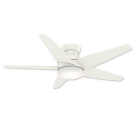 """Casablanca Isotope 59354 52"""" LED Low Profile Ceiling Fan Fresh White and Light Kit"""