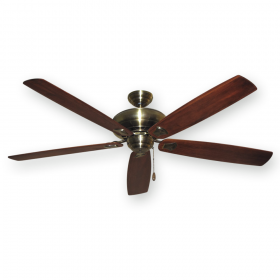 "72"" Tiara Ceiling Fan - Antique Brass - Arbor 750 Cherry Blades"