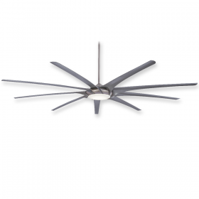 "Minka Aire Ninety-Nine - LED - 99"" Ceiling Fan Brushed Nickel with Silver Blades"