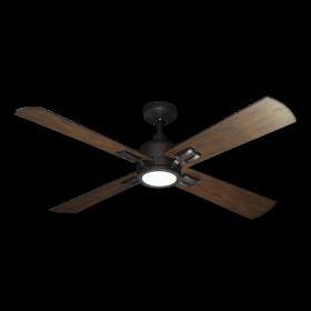 "52"" Captiva Ceiling Fan - Oil Rubbed Bronze - Distressed Walnut Blades"