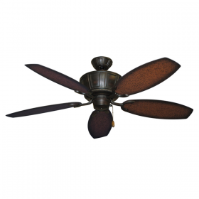 """52"""" Centurion Ceiling Fan - Oil Rubbed Bronze w/ Aged Mahogany ABS Blades"""