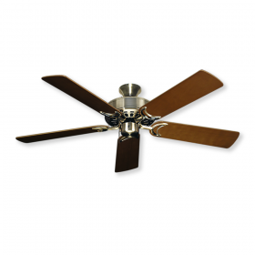 """52"""" Dixie Belle Ceiling Fan - Antique Brass with Natural Cherry Blades"""