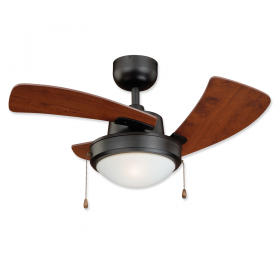 """36"""" Vaxcel Wolcott New Bronze Finish with Applewood Blades and Light Kit"""