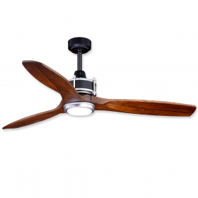 """Vaxcel Curtiss 52"""" LED Outdoor Ceiling Fan Matte Black and Brushed Silver"""
