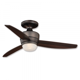 """44"""" Vaxcel Adrian Low Profile Copper Bronze Finish with Dark Espresso Blades and Light Kit"""