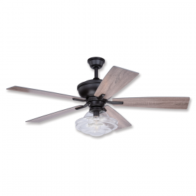 """52"""" Vaxcel Huntley Bronze Finish with Driftwood / Dark Maple Reversible Blades and Light Kit"""