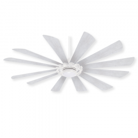 "65"" Minka Aire Windmolen - Textured White with Beached Ashwood Blades"