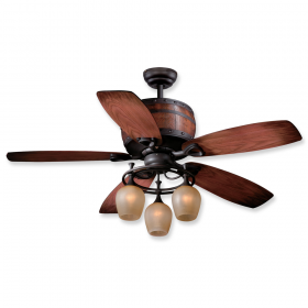 """52"""" Vaxcel Cabernet Oil Burnished Bronze Finish with Walnut / Charred Oak Reversible Blades and Light Kit"""
