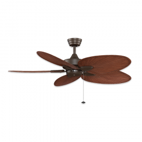 "52"" Fanimation Windpointe Oil Rubbed Bronze Finish with Brown Narrow Oval Blades"