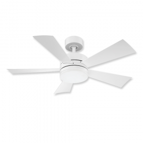 """42"""" Modern Forms Wynd Matte White Finish with Matte White Blades and Cap"""