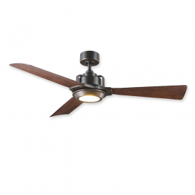 """56"""" Modern Forms Osprey Oil Rubbed Bronze Finish with Dark Walnut Blades and Light Kit"""
