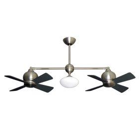 """Gulf-Coast Metropolitan Dual Ceiling Fan - 2 x 24"""" Fans - Up to 61"""" Length"""