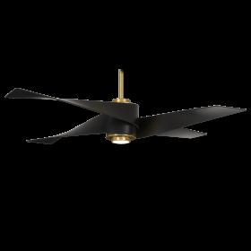 Minka Aire F903L-SBR/MBK - Artemis IV Ceiling Fan - Matte Black Blades