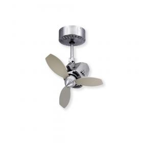 TroposAir Mustang Oscillating Ceiling Fan - Brushed Aluminum