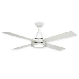 """52"""" Quantum Ceiling Fan - Pure White - Optional LED Light (sold separately)"""