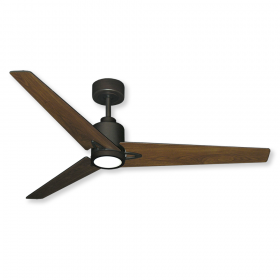 """52"""" Reveal DC Ceiling Fan - Oil Rubbed Bronze - Walnut Blades and Optional LED Light"""