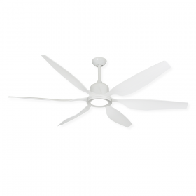 "66"" Titan II Ceiling Fan - Pure White - Optional LED Light (sold separately)"