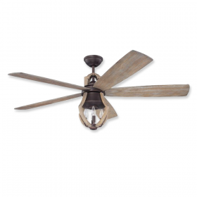 """56"""" Craftmade Winton Aged Bronze Brushed Finish with Weathered Pine Blades and Light Kit"""